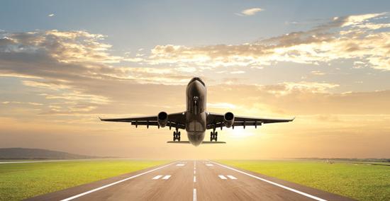 посадка самолета фото