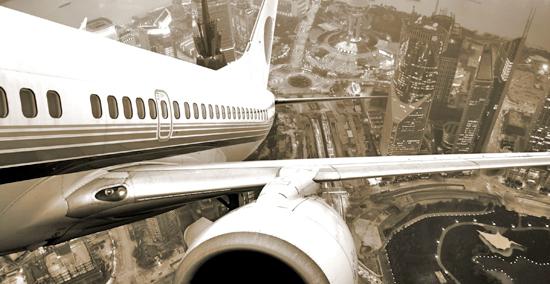 взлет и посадка самолета фото