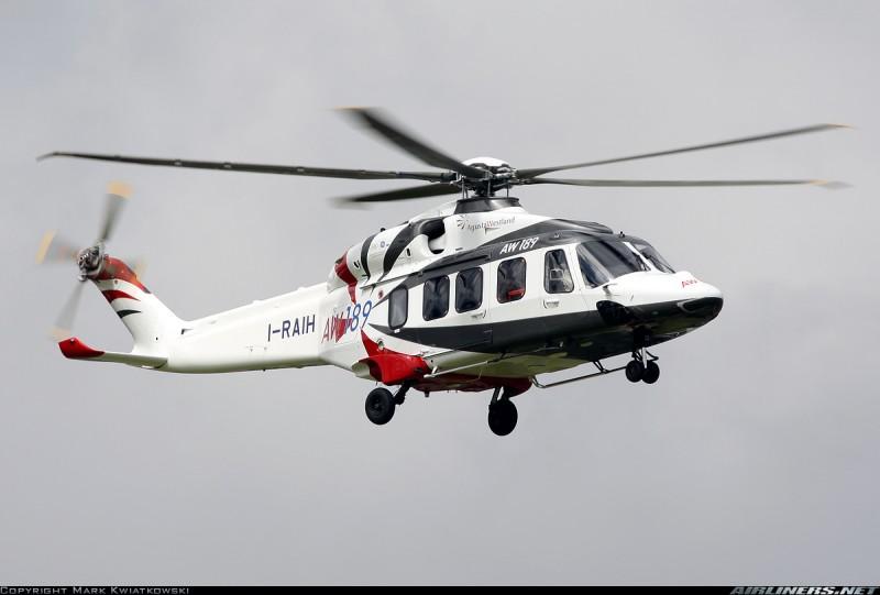 AW189 прилетел на HeliRussia 2015