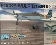Модель самолета focke-wulf TA152H90