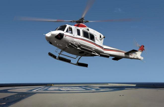 Вертолет Bell 412 EPI 2012 года выпуска.
